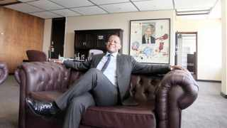 Newly appointed SABC chief operating officer Chris Maroleng in his office in Auckland Park. Picture: Nhlanhla Phillips/ANA