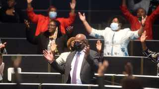 Newly elected Executive Mayor of the City of Johannesburg Mpho Moerane, singing at the Metro Centre after he was officially elected.Picture: Itumeleng English/African News Agency(ANA)
