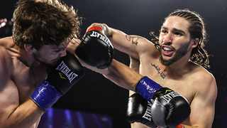 Nico Ali Walsh, the grandson of boxing great Muhammad Ali, won his emotional professional boxing debut on Saturday with a first-round stoppage. Photo: @espn/Twitter