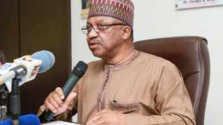 Nigerian health minister, Dr Osagie Ehanire, told the presidential task team on Covid-19 that a Chinese medical team had been invited to the country to help curb the spread of Covid-19. Picture: @Fmohnigeria/Twitter