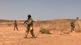Nigerien commandos simulate a raid on a militant camp during the US-sponsored Flintlock exercises in Ouallam. File picture: Aaron Ross/Reuters