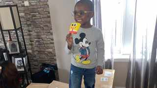 Noah Ruiz, 4, from Brooklyn, New York, panicked his family by buying $2 600 of Spongebob popsicles. Picture: Msjustbeauty Bryant