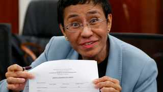 Nobel Peace Prize winner Maria Ressa used her new prominence to criticise Facebook as a threat to democracy. Picture: AP Photo/Bullit Marquez