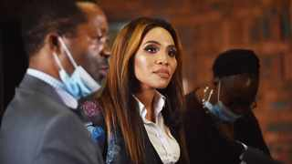 Norma Mngoma, the wife of former Finance Minister Malusi Gigaba, outside court after charges against her were withdrawn. Picture: Thobile Mathonsi/African News Agency (ANA)
