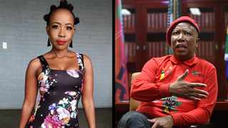 Ntsiki Mazwai and Julius Malema. Picture: Itumeleng English/ African News Agency(ANA)/ Instagram