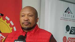 Numsa's Irvin Jim says Parliament should decide on the future of SOEs and not the courts. Picture: Siphelele Dludla