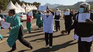 Nurses picket at False Bay Hospital to demand PPE and other work benefits. File picture: Tracey Adams/African News Agency (ANA)