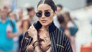 Olivia Culpo told her boyfriend Daniel Amendola not to look at her in his debut catwalk show. PICTURE: Instagram