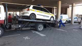 One of the Maluti-A-Phofung Local Municipality vehicles attached by the Sheriff for not paying Eskom. Picture: EFF Free State Twitter