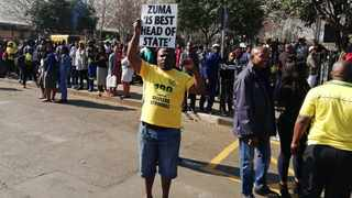 One of the many supporters of Jacob Zuma in PMB Picture and videos: Samkelo Mtshali