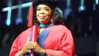 Oprah Winfrey receives her Honorary Doctrate in the faculty of Education at the University of Bloemfontein. Picture:Paballo Thekiso
