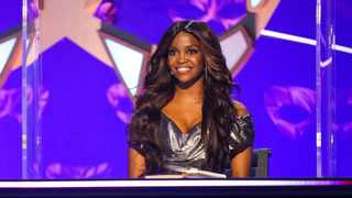 Oti Mabuse is on the star panel for 'The Masked Dancer'. Picture: BBC