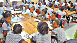 Overcrowding at schools in the Western Cape.Here a classroom at Masivuke Primary school in Phillippi. File Picture: Brenton Geach