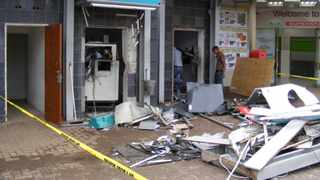 PICTURE: UMNGENI NEWS Two ATM's at a shopping centre in Howick were destroyed by bombers.