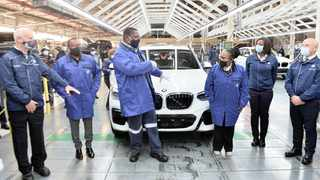 PREMIER David Makhura at BMW plant in Rosslyn yesterday to monitor compliance with lockdown laws. Picture: Oupa Mokoena  African News Agency (ANA)