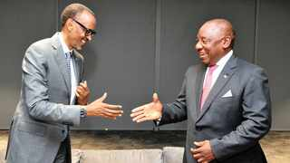 PRESIDENT Cyril Ramaphosa with his Rwandan counterpart Paul Kagame at the Cape Town International Convention Centre two weeks ago. Diplomatic tensions have mounted between the two countries, with Kagame accusing South Africa of giving refuge to dissidents from his country.    Siyabulela Duda GCIS