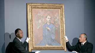 Pablo Picasso's 1905 painting 'Boy with a Pipe' sold for $104.2 million in New York in 2004. (AP Photo/John Marshall Mantel)