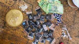 Part of a drug haul found by the provincial Drug and Firearm Unit in a raid in Phoenix this week.