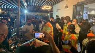 Party-goers had an abrupt end to their Friday night celebrations after Health Minister Zweli Mkhize visited two popular bars while on an inspection visit to Cape Town. Picture: Zweli Mkhize/Twitter