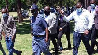 Pastors are escorted by the SAPS in their march to the Union Buildings. Picture: Rapula Moatshe