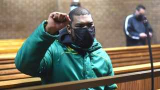 Patriotic Alliance West Rand leader Bruce Nimmerhoudt appeared n the Roodepoort Magistrate's Court for allegedly inciting public violence and attacks on malls dureng the unrest. Picture: Itumeleng English/African News Agency (ANA )