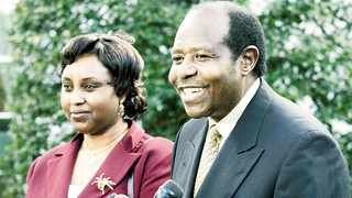 Paul Rusesabagina, the hotel manager whose heroism is the subject of the film Hotel Rwanda, is seen here with his wife Tatiana in Washington. Picture: AP