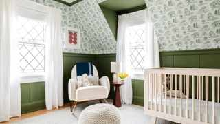 Peel-and-stick wallpaper is a beautiful and adjustable option for renters. Picture: Anna Spaller/The Washington Post