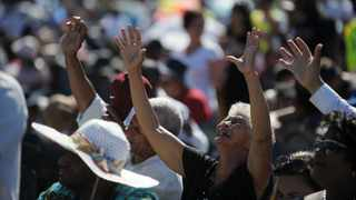 People pray and worship at a gathering. Church groups will meet the government in court on February 2 to challenge the banning of Church gatherings. Picture: Armand Hough/African News Agency (ANA)