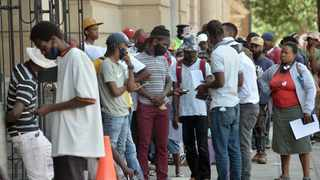People queue for the Covid-19 Unemployment Relief Fund File picture: Oupa Mokoena/African News Agency (ANA)
