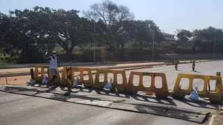 Phoenix community barricaded a road to prevent looters from entering the community last week. Picture: KZN VIP - Phoenix Crime Watch