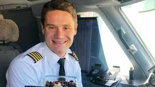 Pilot Matthew Ayer has made a name for himself in the YouTube world for sharing how he navigates being vegan while he travels across the world. Picture: Supplied.