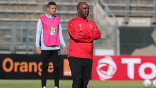 Pitso Mosimane, coach of Al Ahly, is busy plotting Kaizer Chiefs' demise. Picture: Samuel Shivambu/BackpagePix