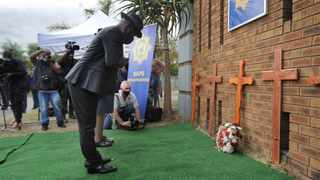Police Minister Bheki Cele slammed criticism that he is grandstanding when visiting the families of slain cops during a memorial service on Thursday. Picture: Armand Hough/African News Agency (ANA)