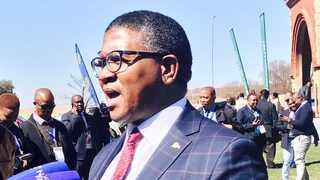 """Police Minister Fikile Mbalula speaking at the """"Action Indaba on Gender Based Violence and Protection of Vulnerable Groups"""" in Pretoria on Thursday. PHOTO: Jonisayi Maromo/ANA Reporter"""