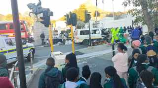 Police are investigating the circumstances surrounding the scholar transport crash, which left more than 20 pupils injured. Picture: Sisonke Mlamla/Cape Argus