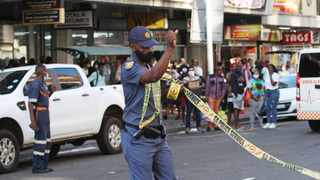 Police cordoned off the area where man apparently held staff hostage at the Government Employees Pension Fund offices on Anton Lembede street. I Doctor Ngcobo/African News Agency(ANA)