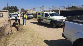 Police forensic investigators and members of the K9 unit have begun the exhumation of bones from an Olievenhoutbosch yard where three people were allegedly killed and buried. Picture: Oupa Mokoena/African News Agency (ANA)