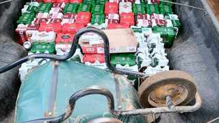 Police found alcohol in the back of a bakkie. Picture: SAPS