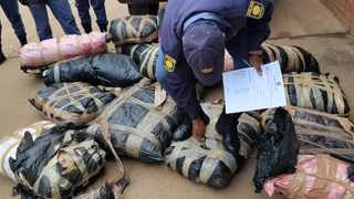 Police have arrested three suspects and seized illegal guns, ammunition and dagga Picture: SAPS