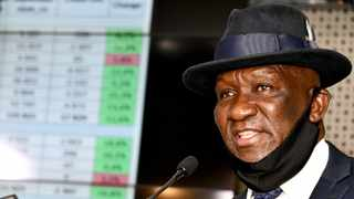 Police minister Bheki Cele presenting the crime stats on Friday. Picture: GCIS
