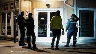 Police officers investigate after several people were killed and others were injured by a man using a bow and arrows to carry out attacks, in Kongsberg, Norway. Picture: Terje Pedersen/NTB/via Reuters