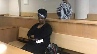 Portia Sizani -- wife of former ANC Chief Whip Stone Sizani -- dressed in Gucci, drove off to pay her bail after she was convicted of fraud. Picture: Raahil Sain/ANA