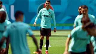 Portugal's forward Cristiano Ronaldo takes part in a training session. Photo: Ferenc Isza/AFP
