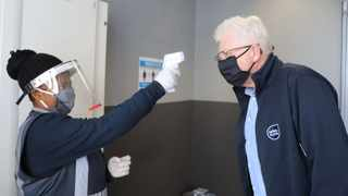 Premier Alan Winde having his temperature checked. Picture: Supplied