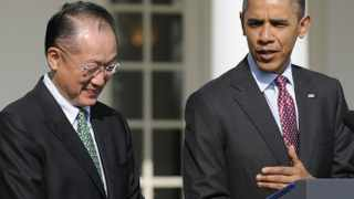 President Barack Obama introduces Dartmouth College president Jim Yong Kim as his nominee for the next president of the World Bank.