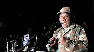 President Cyril Ramaphosa addresses members of the SANDF in Joburg yesterday, before their deployment to help manage the 21-day lockdown to try to contain the coronavirus disease spreading across the country.     Siphiwe Sibeko     Reuters African News Agency (ANA)