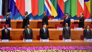 President Cyril Ramaphosa and President Xi Jinping Chairpeson flanked by other African heads of states at the FOCAC summit. File picture