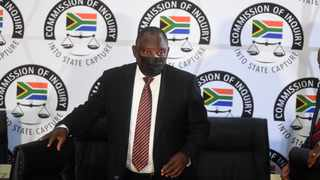 President Cyril Ramaphosa appear before the Commission of Inquiry into Allegations of State Capture led by Deputy Chief Justice Raymond Zondo. Picture: Itumeleng English/African News Agency(ANA)