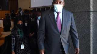President Cyril Ramaphosa at the Commission of Inquiry into Allegations of State Capture led by Deputy Chief Justice Raymond Zondo. Picture: Itumeleng English/African News Agency (ANA) Archive