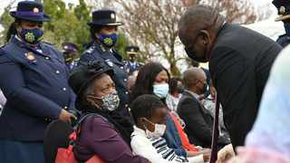 President Cyril Ramaphosa during National Police Commemoration Day. Picture: SAPS